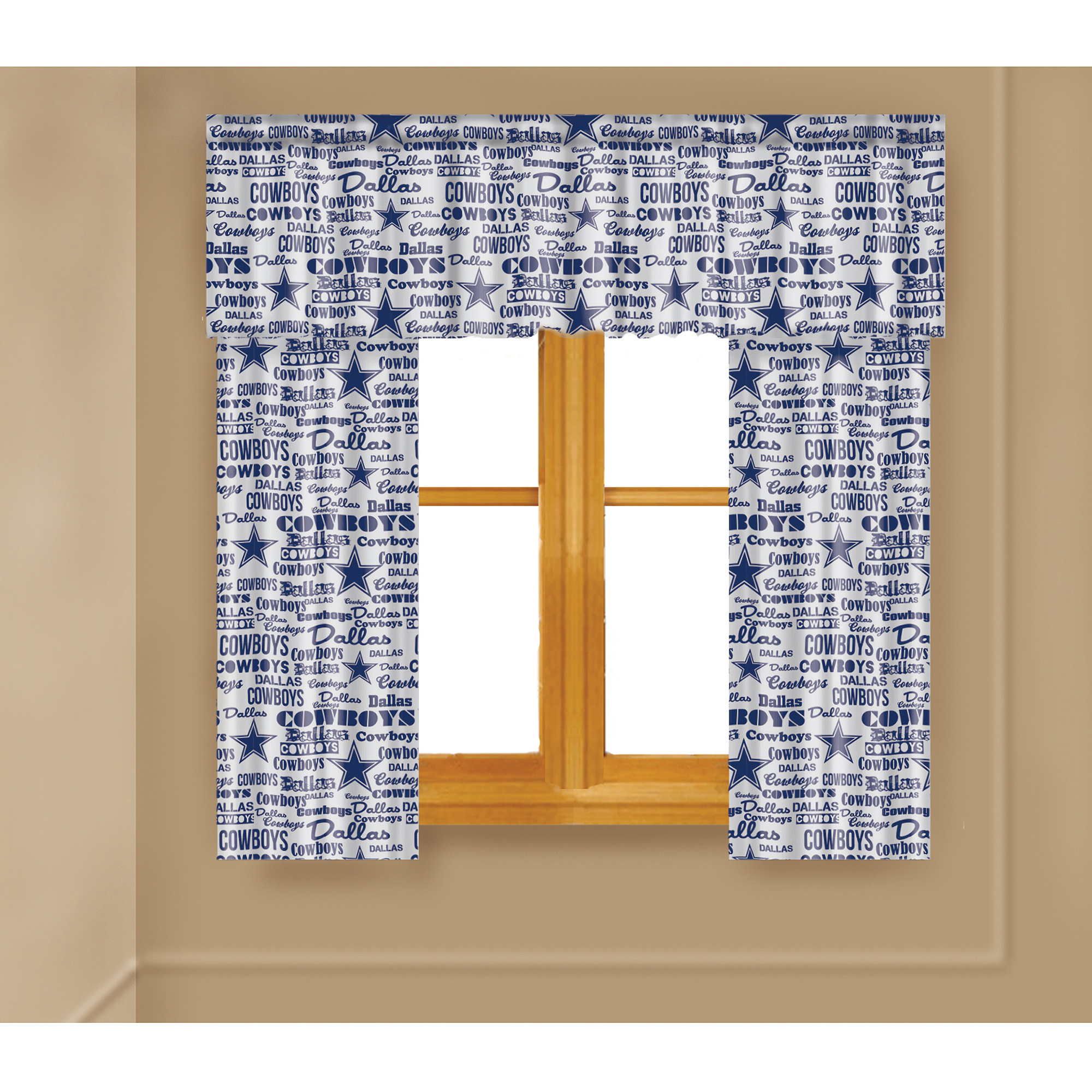 NFL Dallas Cowboys Window Curtain Panels