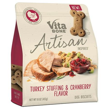 Vita Bone Artisan Inspired Turkey Stuffing & Cranberry Flavor Dog Treat Coat Dog Treats