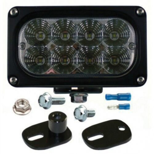 LED Work Light - 40W, Rectangle, Flood Beam, Kubota M-Series, 3C581-75913, 3C581-75914, 3C58175914