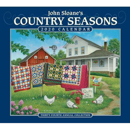 John Sloane's Country Seasons 2020 Deluxe Wall Calendar (Other) (Act Calendar 2015)