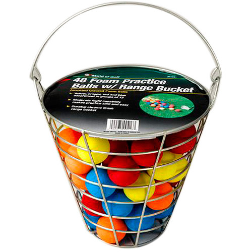 JEF World of Golf Metal Range Bucket with Foam Balls