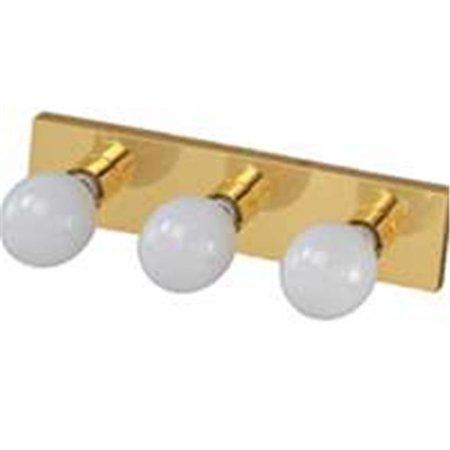 V5BB03-3L Vanity Bathroom Light Fixtures, Polished Brass