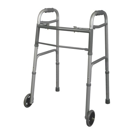 Medline Youth Two-Button Folding Walker with 5