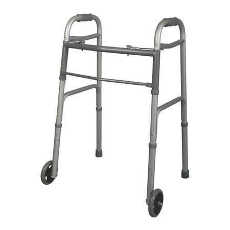 - Medline Youth Two-Button Folding Walker with 5