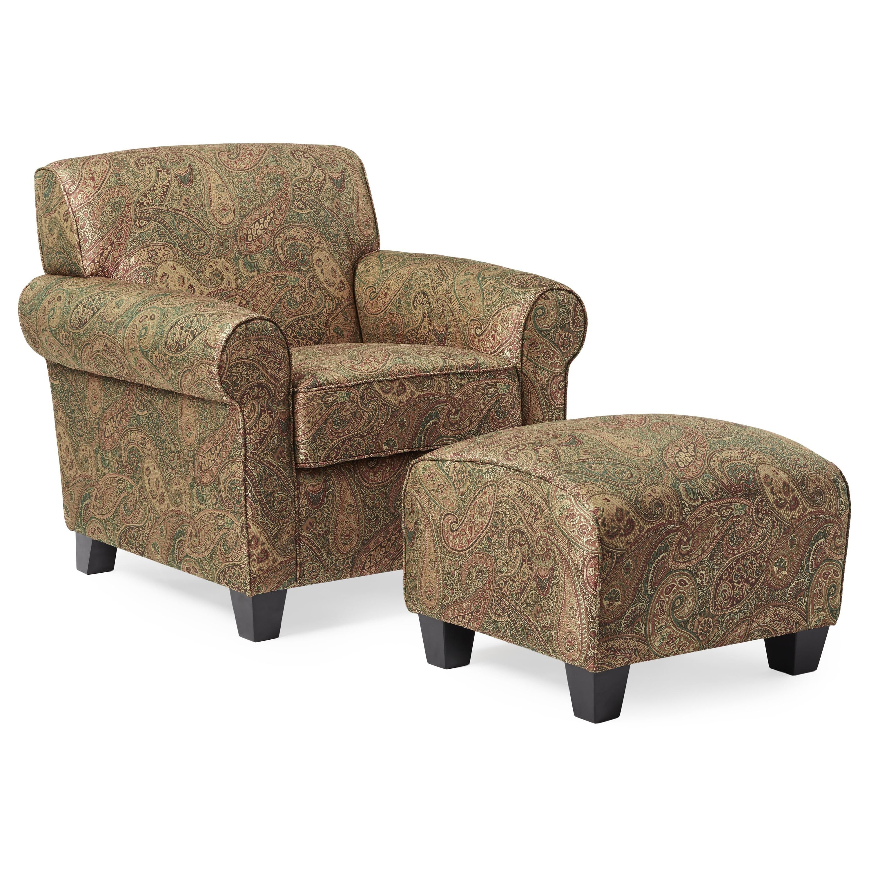 Handy Living Portfolio Mira 8 way Hand tied Paisley Arm Chair and