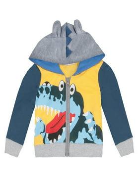 Toddler Kids Boy's Long Sleeve Winter Warm Hooded Printed Jacket Coats