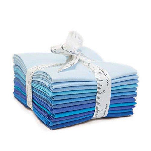 Bella Solids Blues~10 Fat Quarter Bundle by Moda