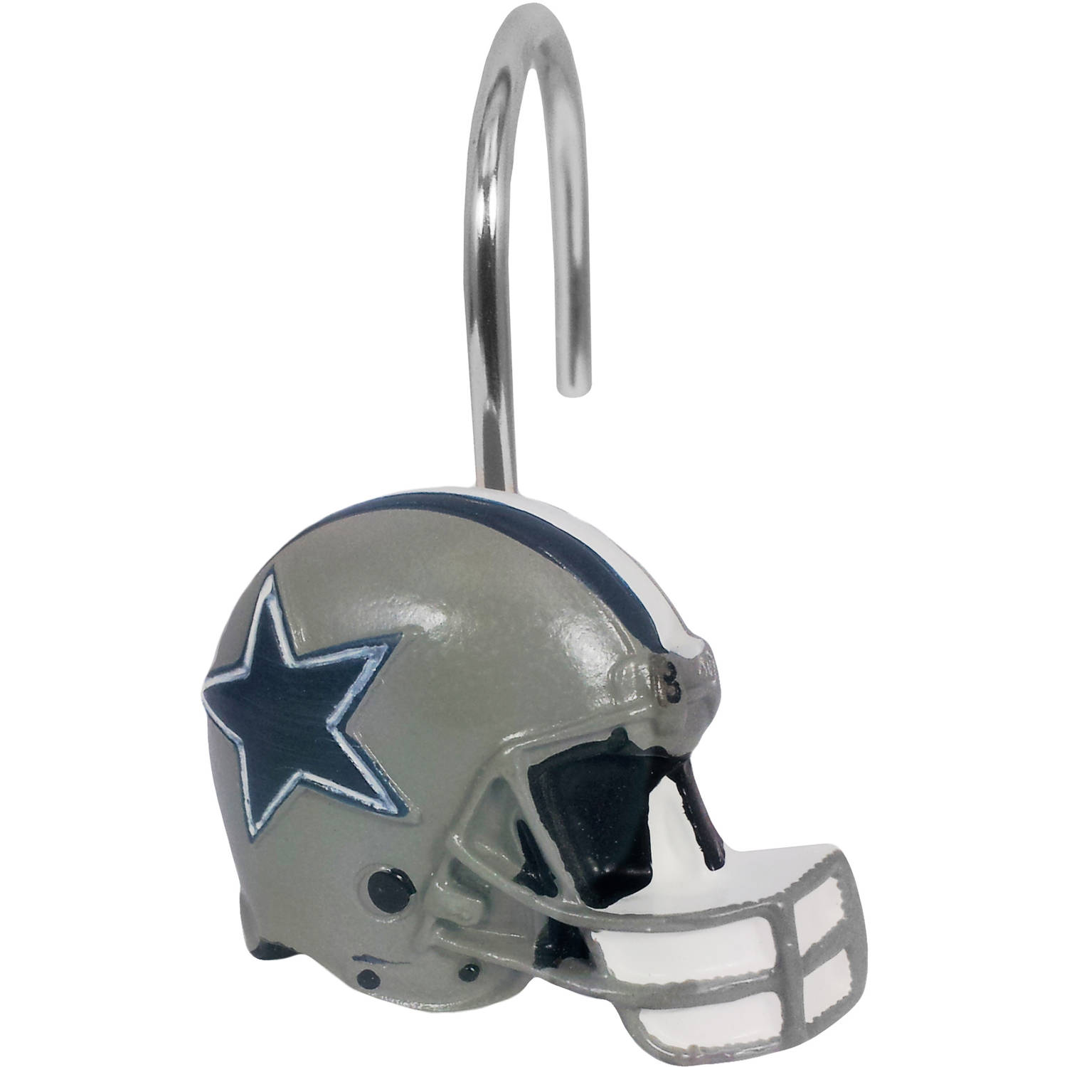 NFL Dallas Cowboys Decorative Bath Collection 12-Pack Shower Hooks