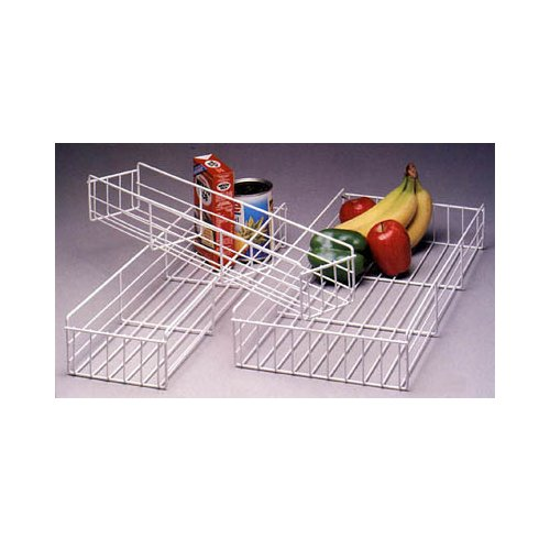 Knape & Vogt BP 5WH Pantry Pullout Basket 5-inch White Wire