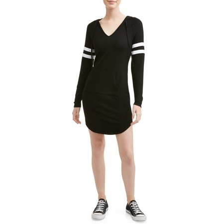 Skin Tight Dresses For Juniors (No Boundaries Juniors' Long Sleeve Hooded Knit)