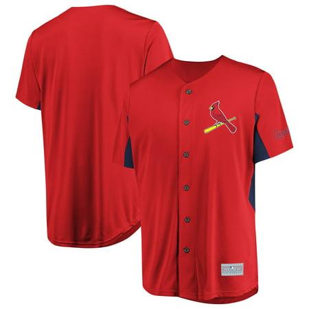 Men's Majestic Red St. Louis Cardinals Champion Choice - Billups Jersey