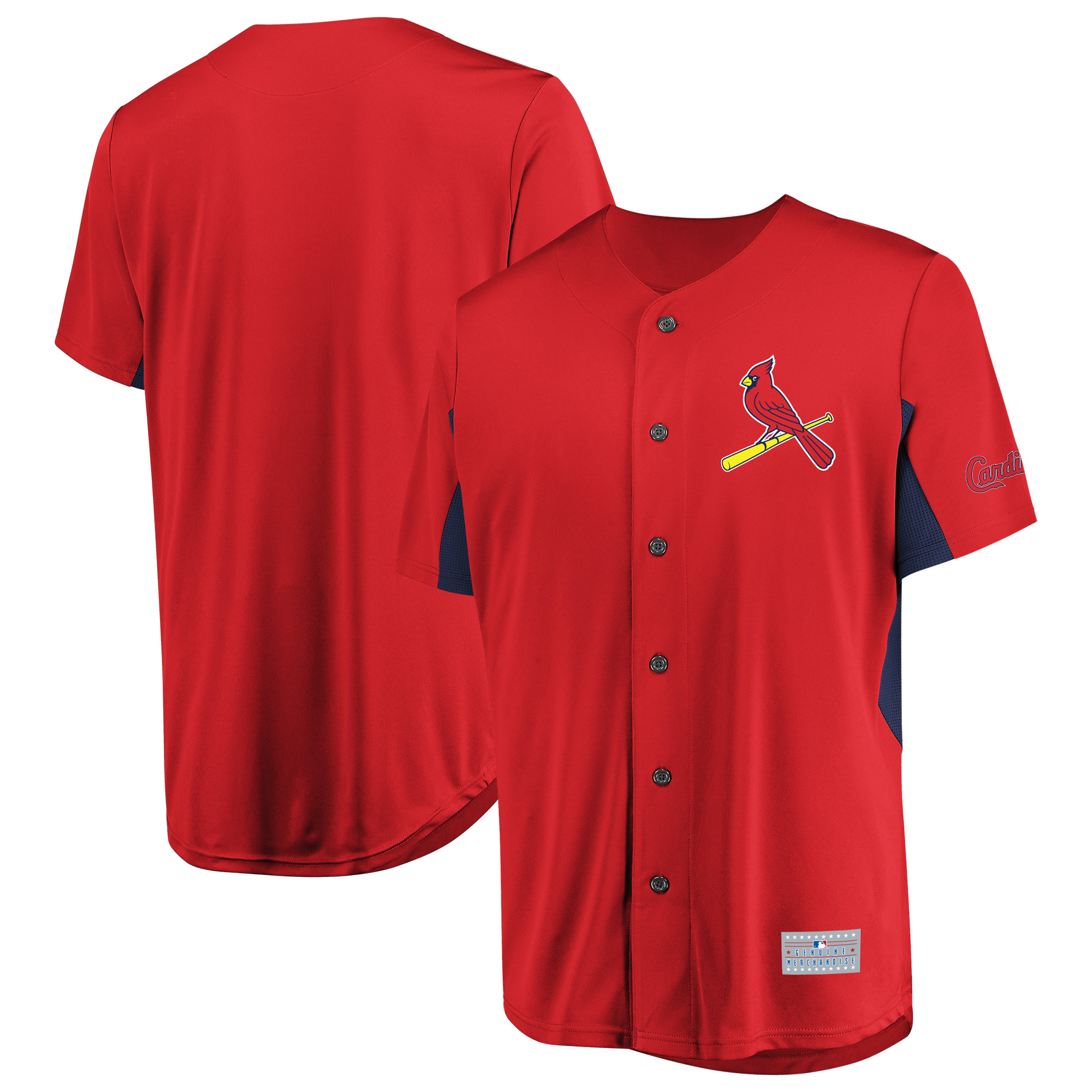Men's Majestic Red St. Louis Cardinals Champion Choice Jersey