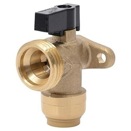 sharkbite 25560lfa washing machine angle valve, 1/2 inch x 3/4 inch mht garden hose valve, push-to-connect copper, pex, cpvc, pe-rt pipe
