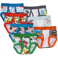 Toddler Boys 7-Pack Character Underwear - Choose from Star Wars, Cars, Minions, and more!