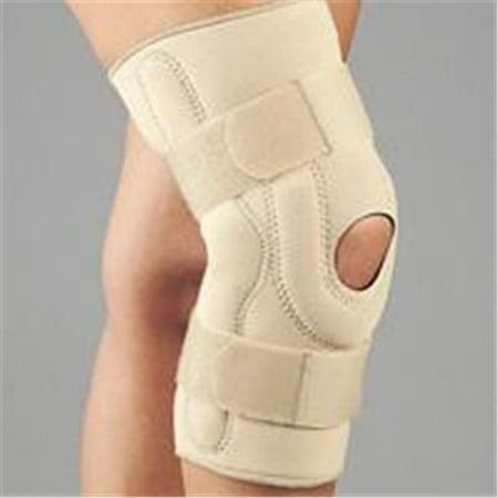 Fla 37 107Smbeg Neoprene Stabilizing Knee Brace With Composite Hinges  44  Beige  44  Small