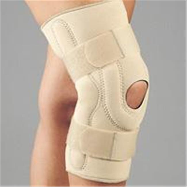 Fla 37-107SMBEG Neoprene Stabilizing Knee Brace With Composite Hinges, Beige, Small