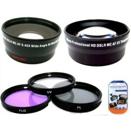 Deluxe Lens Kit For Canon Digital EOS Rebel SL1, T1i, T2i, T3, T3i, T4i, T5, T5i EOS60D, EOS70D, 50D, 40D, 30D, EOS 5D, EOS5D Mark III, EOS6D, EOS7D, EOS7D Mark II, EOS-M Digital SLR Cameras