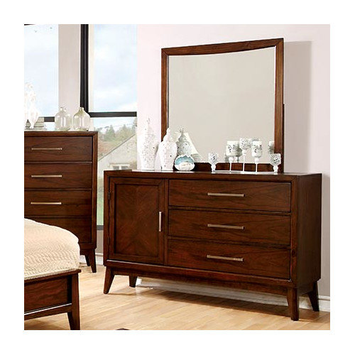 Hokku Designs Dionn 3 Drawer Combo Dresser with Mirror