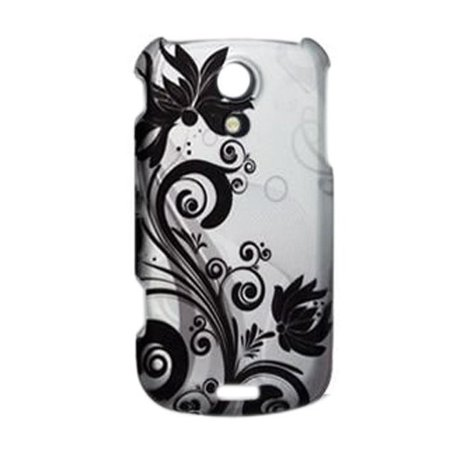 DC Rubberized Silver Black Vine Flower Snap on Design Case Hard Case Skin Cover Faceplate for Sprint Samsung Galaxy S Epic 4 4g, Protect your.., By Generic,USA