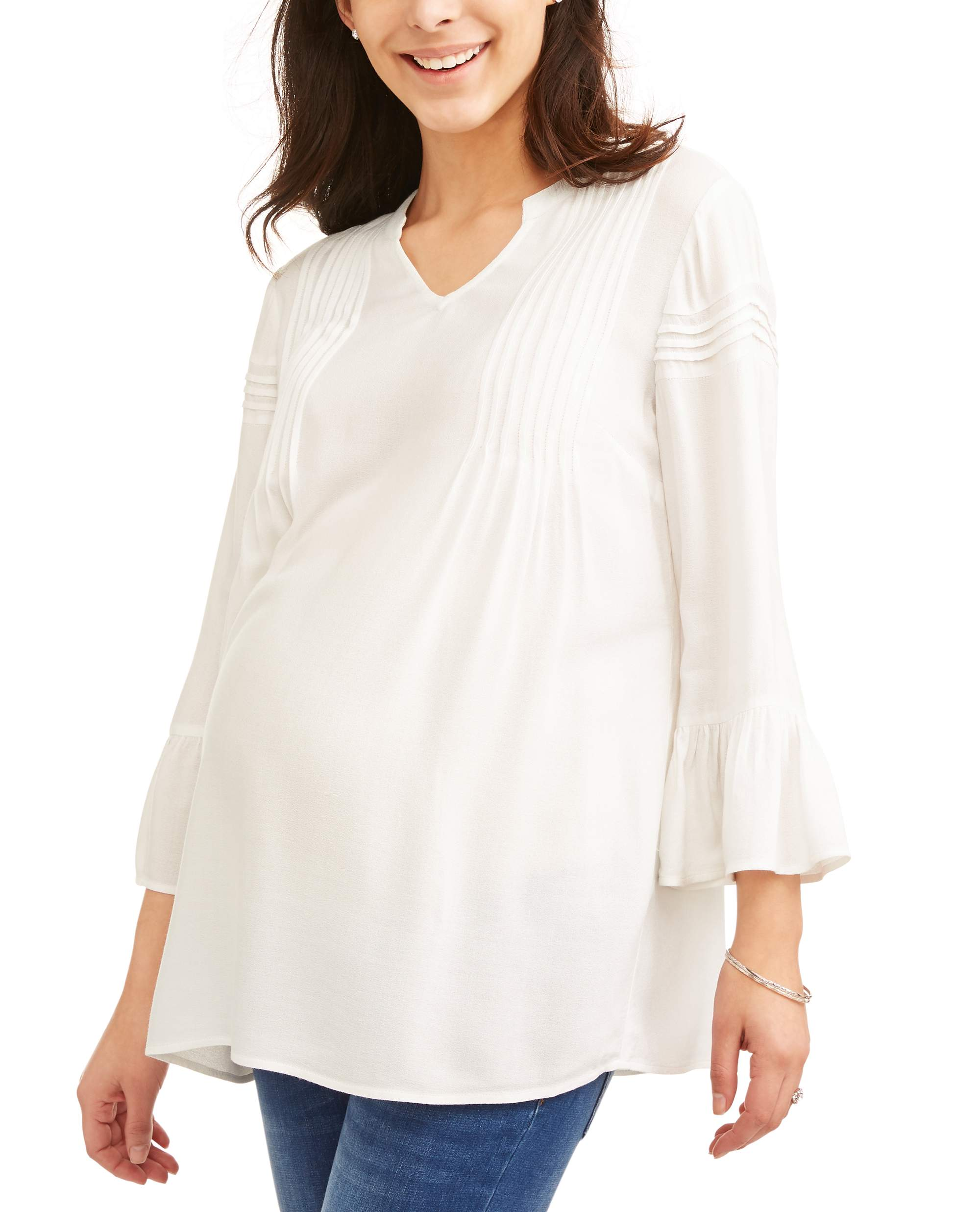 Maternity Woven Crepe Top