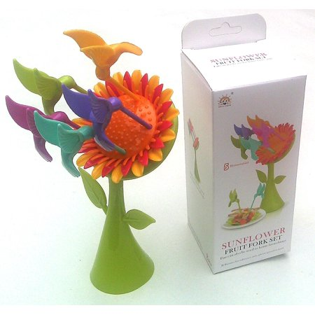 Sunflower Fruit Fork Set (5 Hummingbird) Combinations Out of Top Designer.(rare Items), Make things even more fun to eat can also be used as home furnishings. By Guangzhou](Guangzhou Halloween)