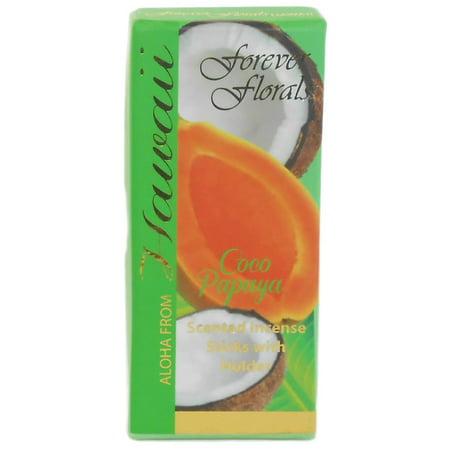 Hawaiian Forever Florals Incense Gift Box 4 Sets Coconut Papaya