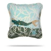 Denali Home Collection Denali Mermaid/Light Marine Pillow 18x18