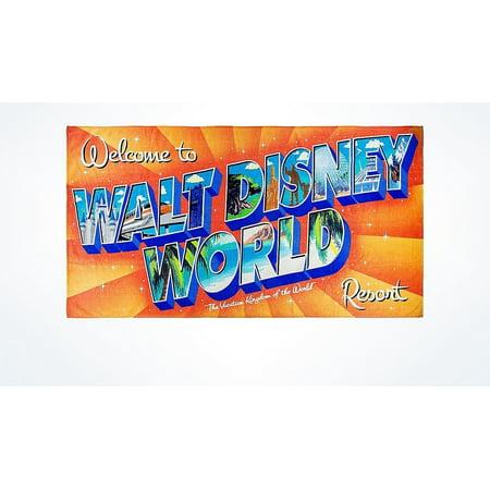 Disney Parks Welcome to Walt Disney World Resort Beach Towel New with
