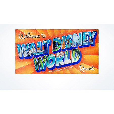 Disney Parks Welcome to Walt Disney World Resort Beach Towel New with