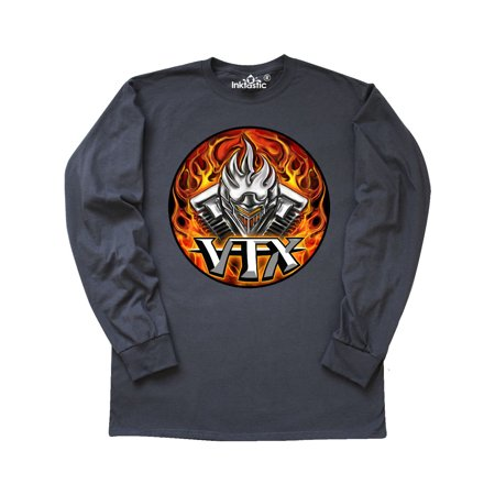 - VTX Flaming Motor Long Sleeve T-Shirt WickedApparel by Michael Spano