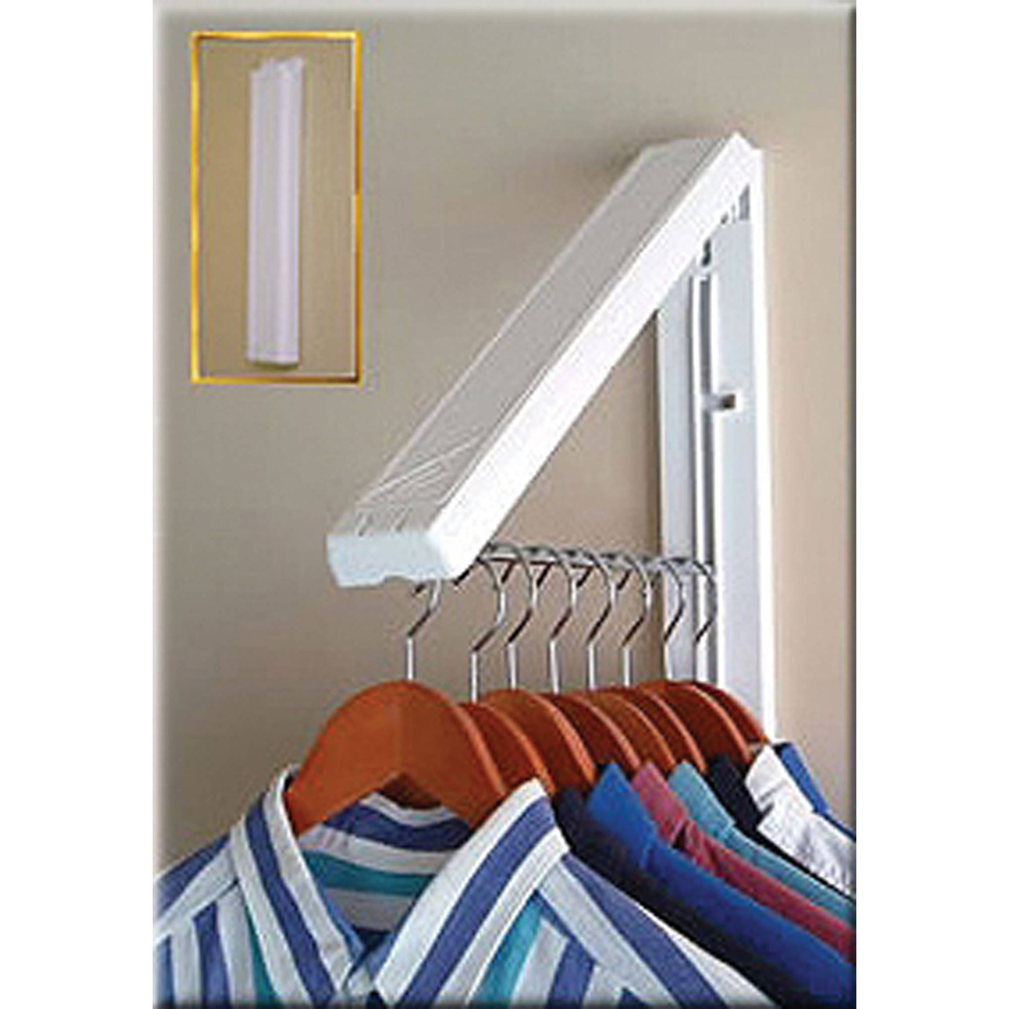 InstaHANGER Clothes Hanging System, White