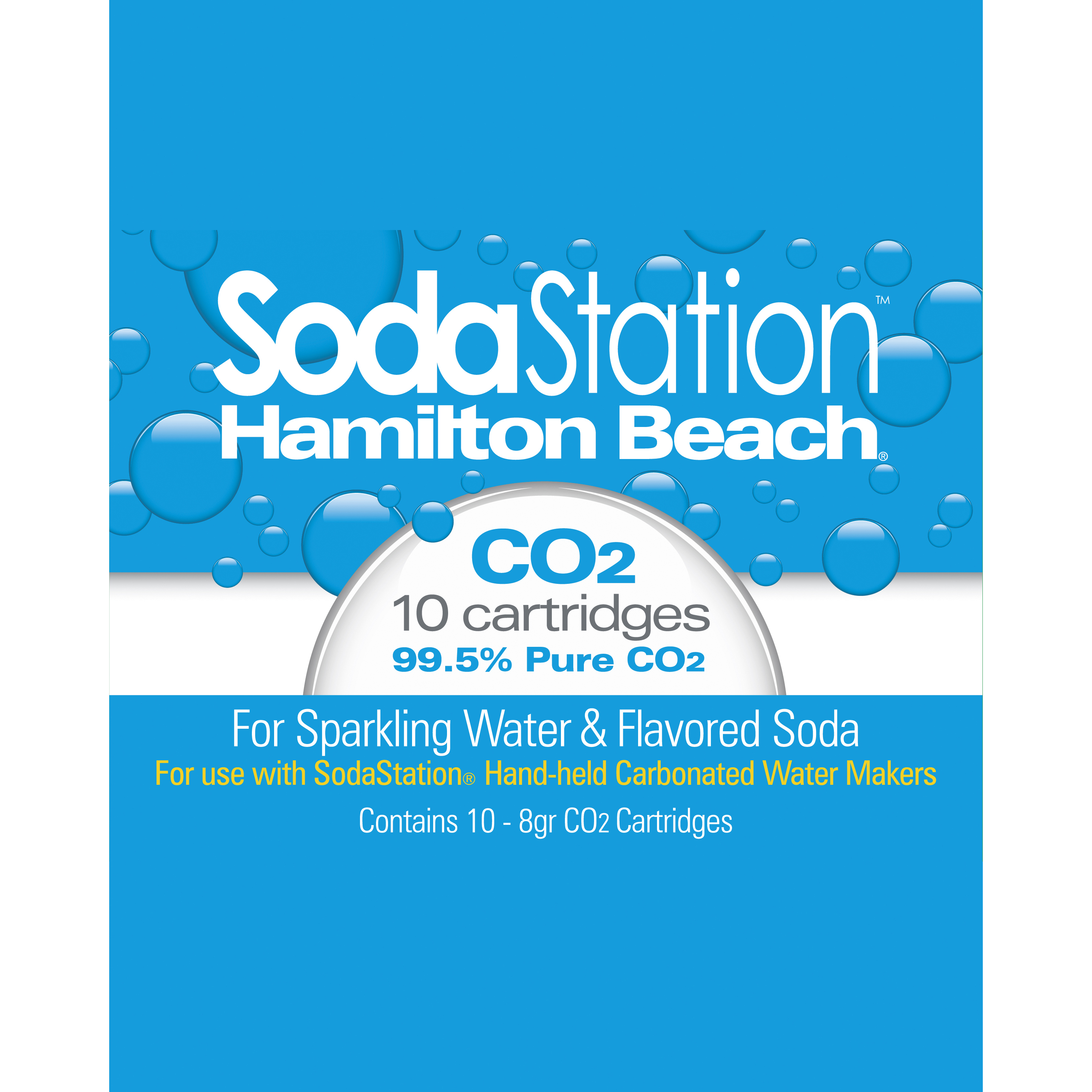 Hamilton Beach SodaStation CO2 Cartridges, 10pk