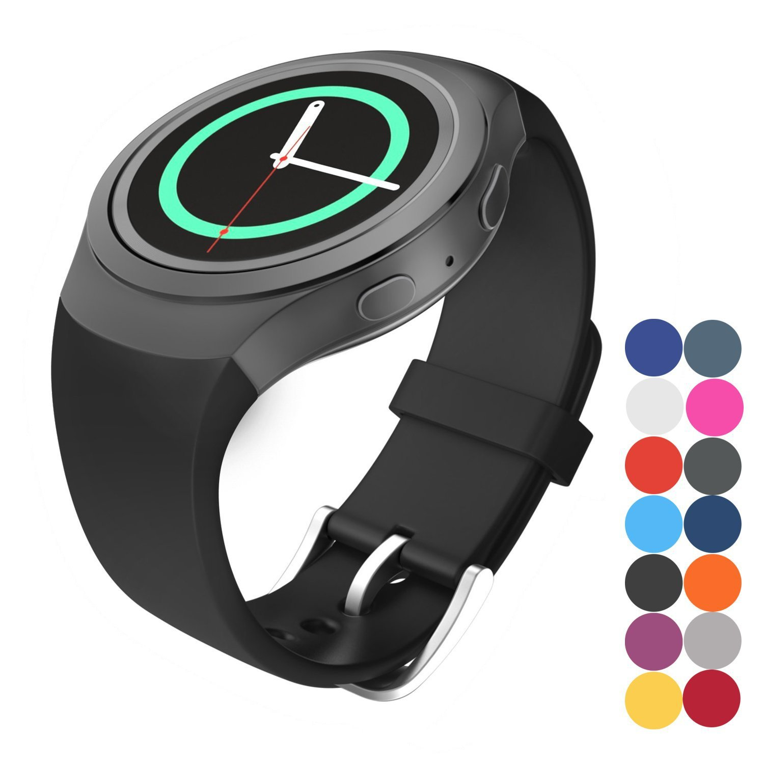 Gear S2 Watch Band,CoJerk Replacement Silicone Sport Watch Band Strap for Samsung Galaxy Gear S2 SM-R720 Smart Watch Only