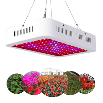 Zimtown 1000W LED Grow Light Kit Full Spectrum Hydroponic Fixture Indoor Plant Lamp Double Chips