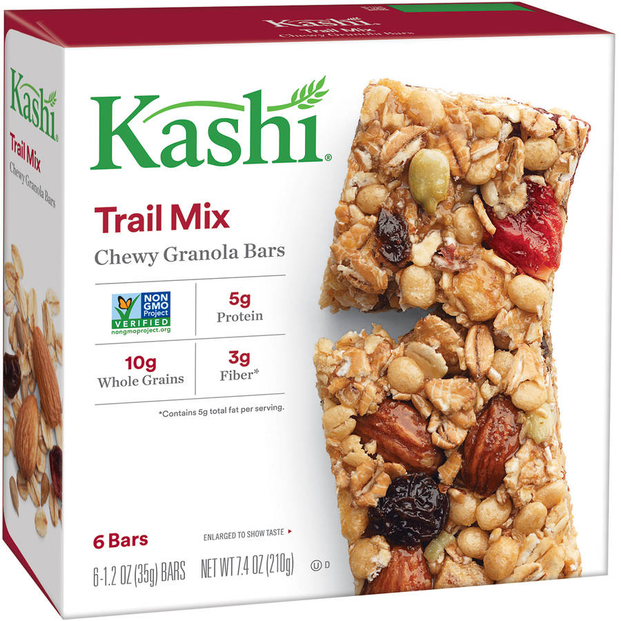 Kashi Trail Mix Chewy Granola Bars, 1.2 oz, 6 Count