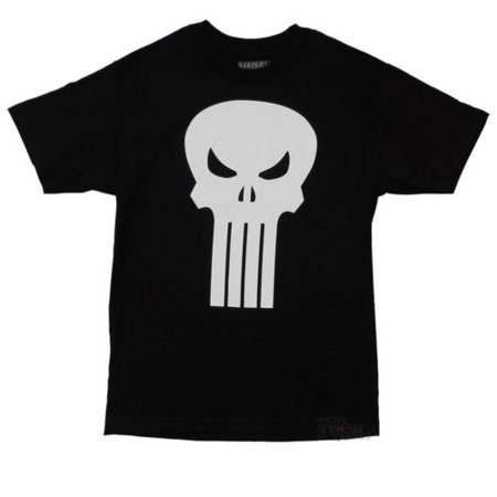 Punisher Skull Symbol Plain Jane Marvel Comics Adult T-Shirt (Plain Skulls To Decorate)