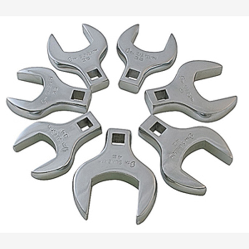 "Sunex 9740 1/2"" Dr. 7 Pc. Fully Polished Metric Jumbo Straight Crowfoot Wrench Set"