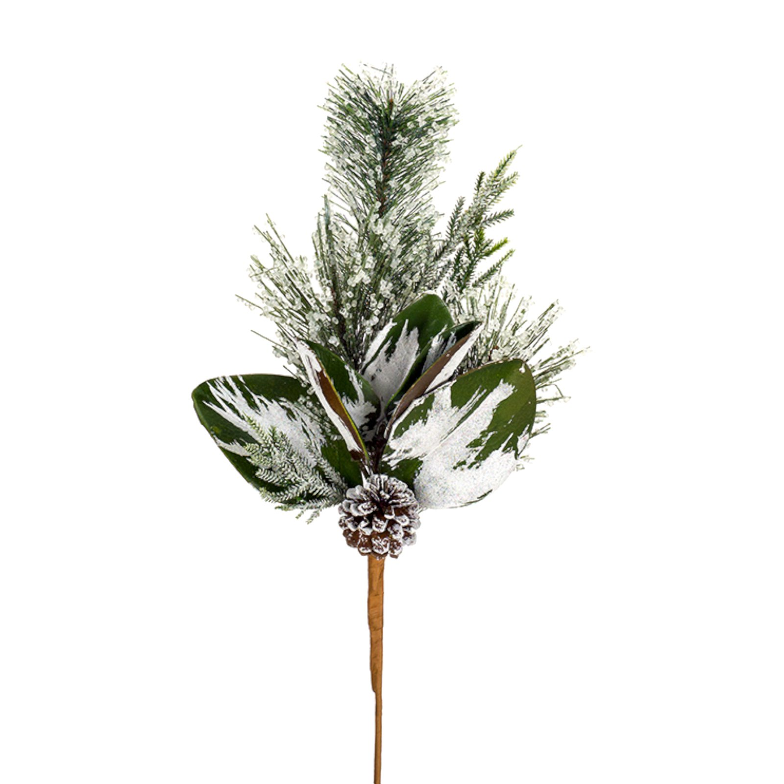 Melrose 20 in. Iced Pine and Cone Spray - Set of 12