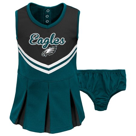 new product e61ea 50207 Toddler Black/Midnight Green Philadelphia Eagles Cheerleader Dress &  Bloomers Set