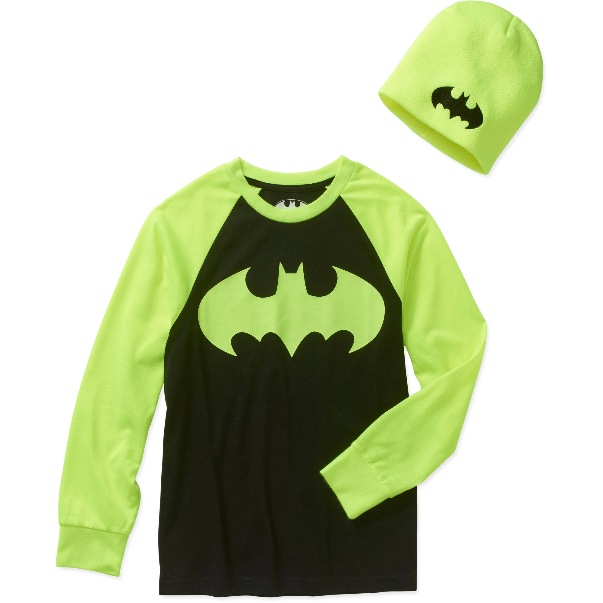 DC Comics Batman Boys' Graphic Tee with Beanie Combo