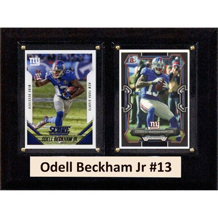 C Collectables Nfl 6X8 Odell Beckham Jr New York Giants 2 Card Plaque