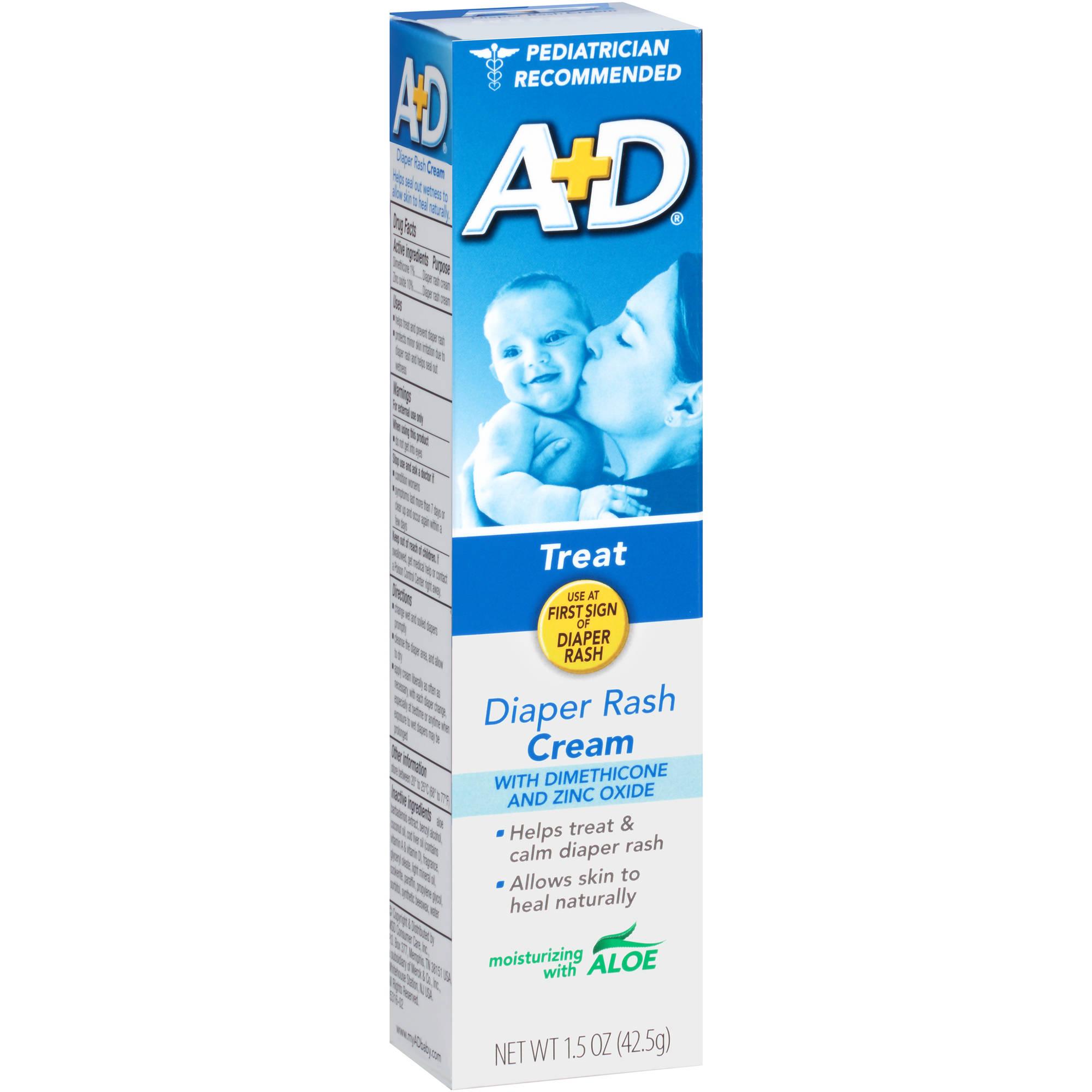 A+D Diaper Rash Cream with Dimethicone and Zinc Oxide, 1.5 oz
