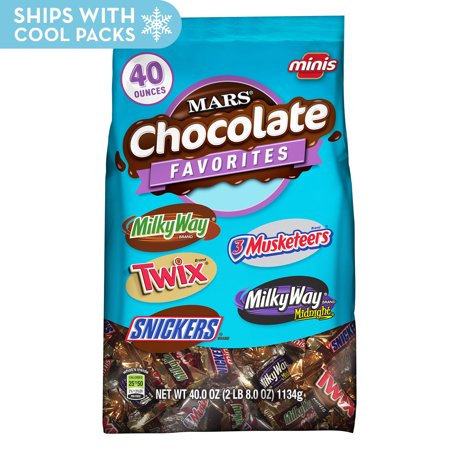 Mars Chocolate, Variety Pack Candy Bars, Minis Size, 40 Oz for $<!---->