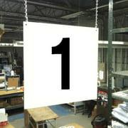 STRANCO INC HPS-FS1212-1 Hanging Aisle Sign,Legend 1