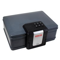 First Alert 2601DF Waterproof Fire Chest with Lock, 0.19 Cubic Feet