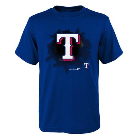 MLB Texas RANGERS TEE Short Sleeve Boys OPP 100% Cotton Alternate Team Colors 4-18