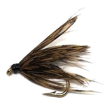 Feeder Creek Fly Fishing Trout Flies - Soft Hackle Black- 12 Wet Flies - 3 Sizes - Fishing Soft Hackle Flies