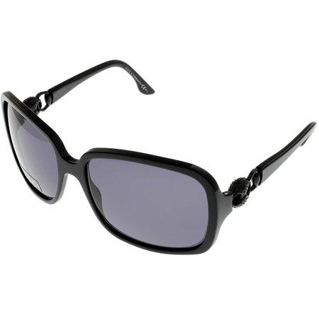 Gucci Women's 3107 Black Frames/Dark Grey Lens Plastic Sunglasses Size: Lens/ Bridge/ Temple: 59-17-130