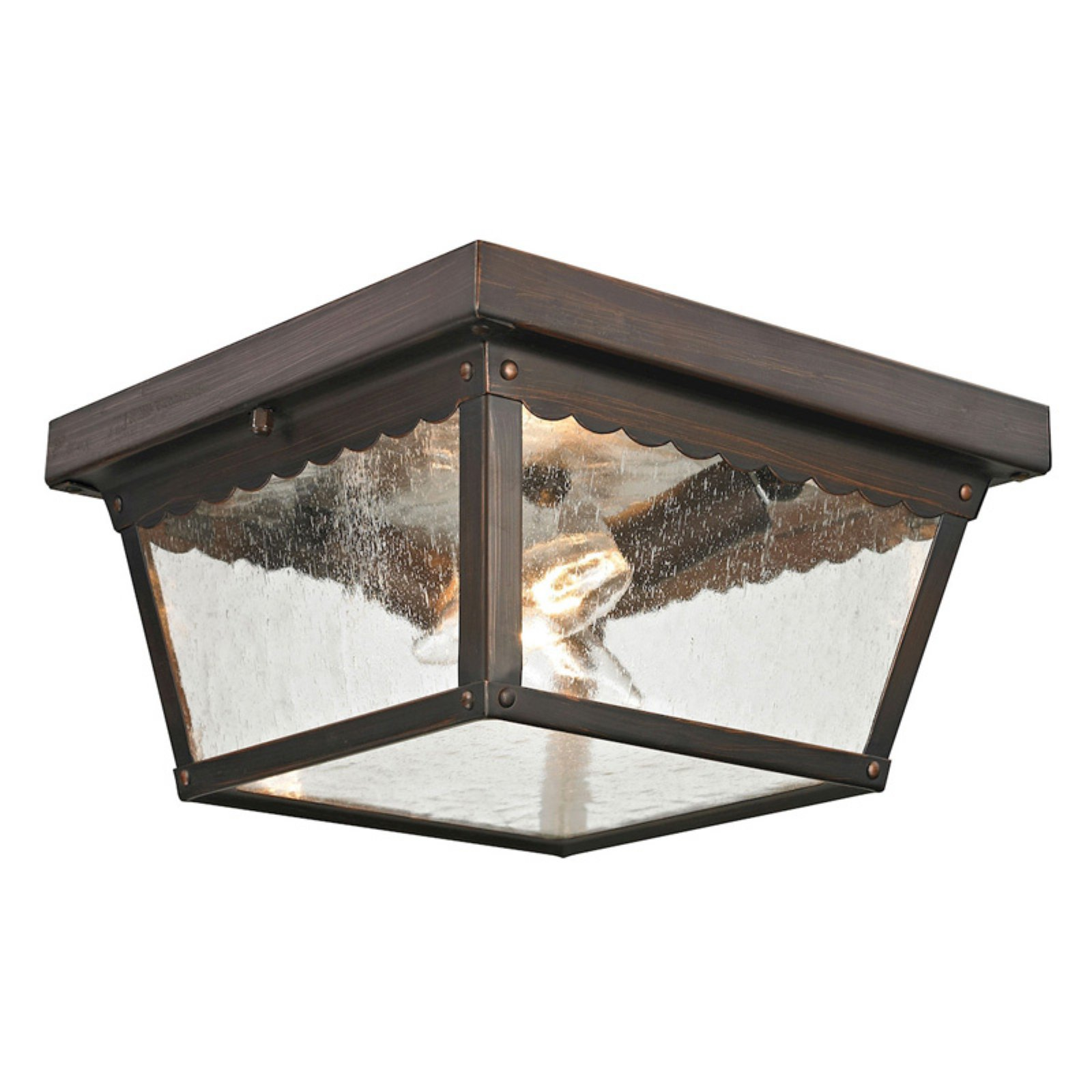Thomas Lighting Springfield 2 Light Outdoor Flush Mount Ceiling Light by CornerStone