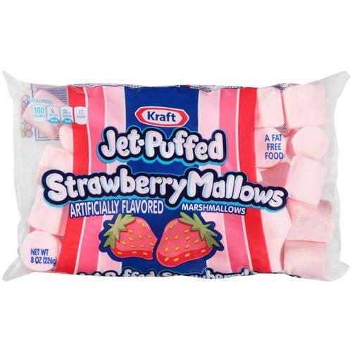 Kraft Jet-Puffed Strawberry Mallows Marshmallows, 8 oz